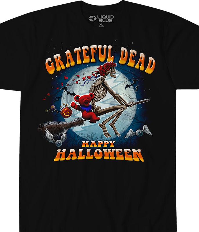 Grateful Dead Wicked Bertha Black Athletic T-Shirt Tee Liquid Blue