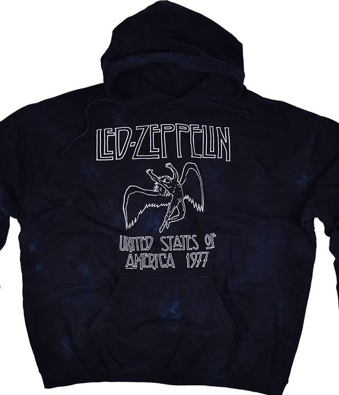 Led Zeppelin USA Tour 77 Tie-Dye Hoodie Liquid Blue