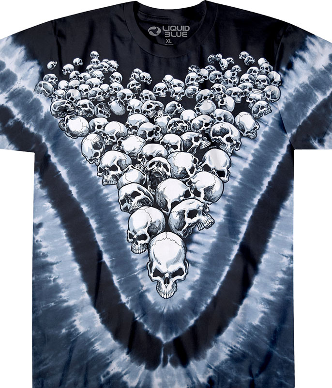 Boneyard Tie-Dye T-Shirt Tee Liquid Blue
