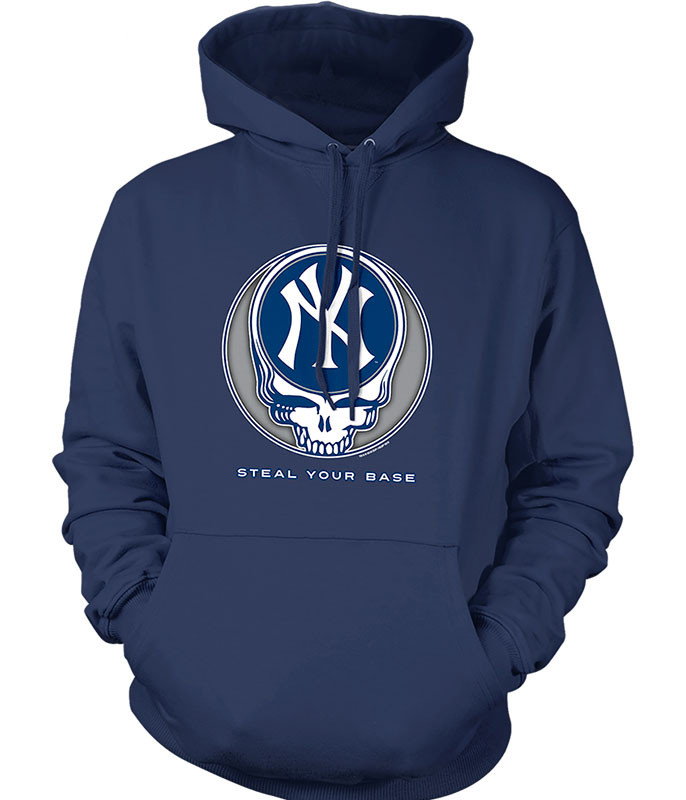 MLB New York Yankees GD Steal Your Base Navy Hoodie Liquid Blue