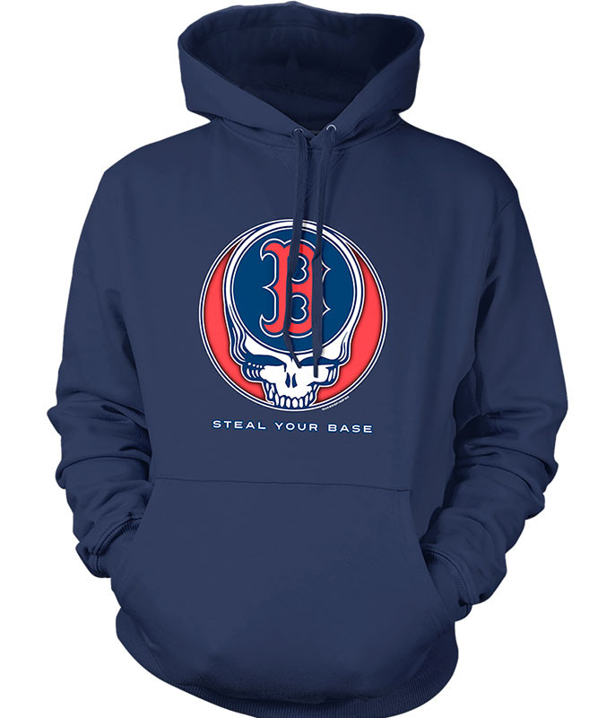 MLB Boston Red Sox GD Steal Your Base Navy Hoodie Liquid Blue