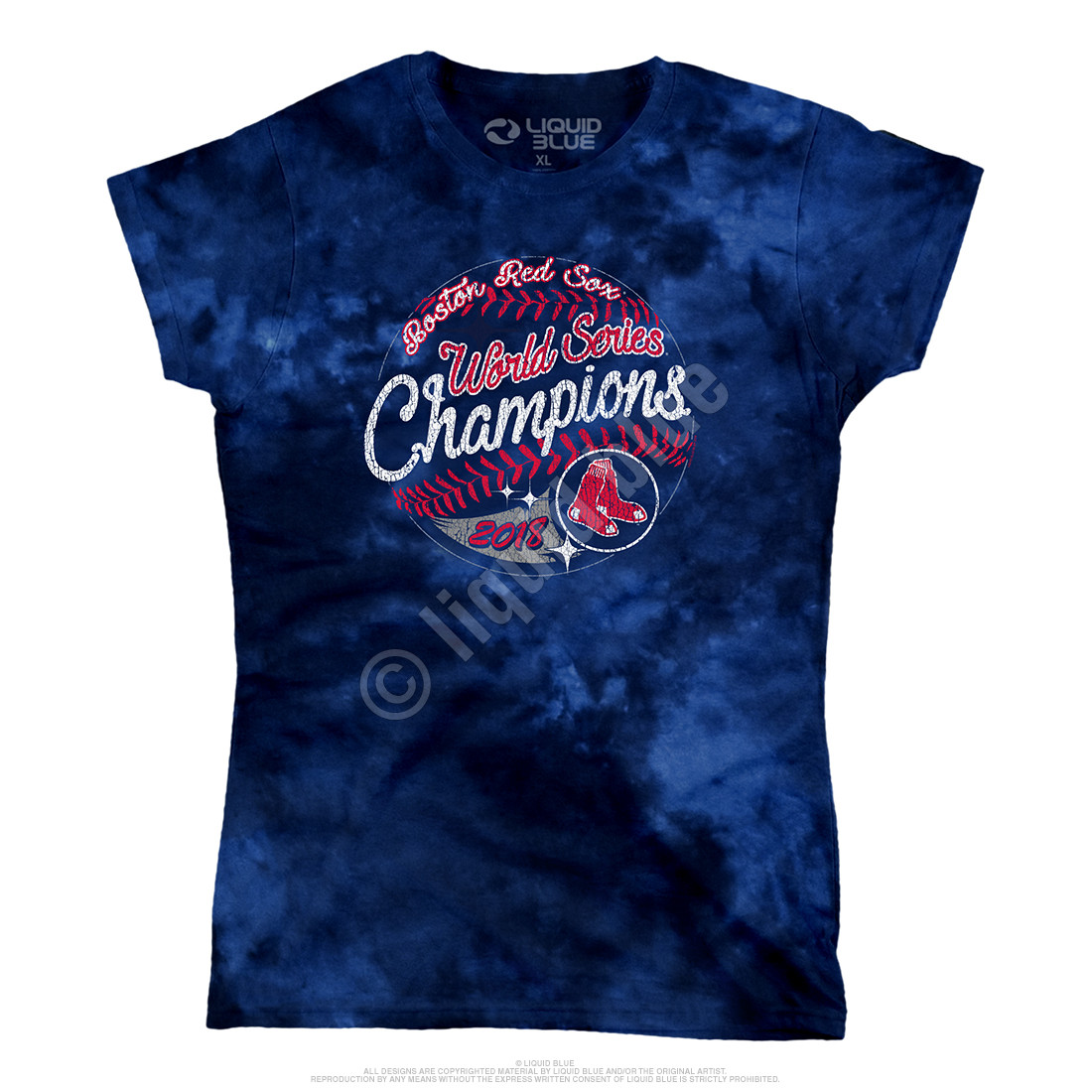 Boston Red Sox World Series Champions Womens Tie-Dye T-Shirt Clearance 50% OFF