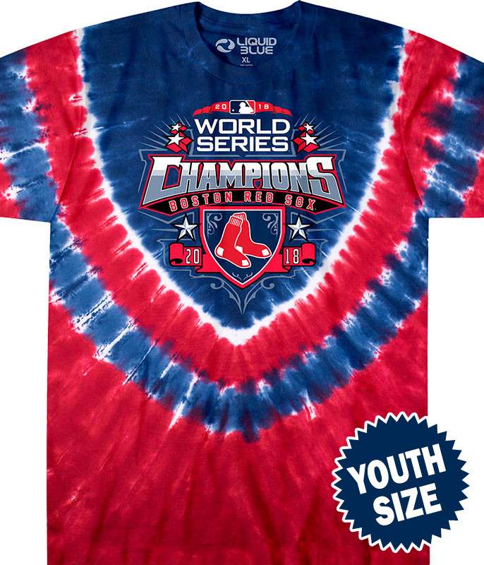 Boston Red Sox World Series Champions Youth Tie-Dye T-Shirt