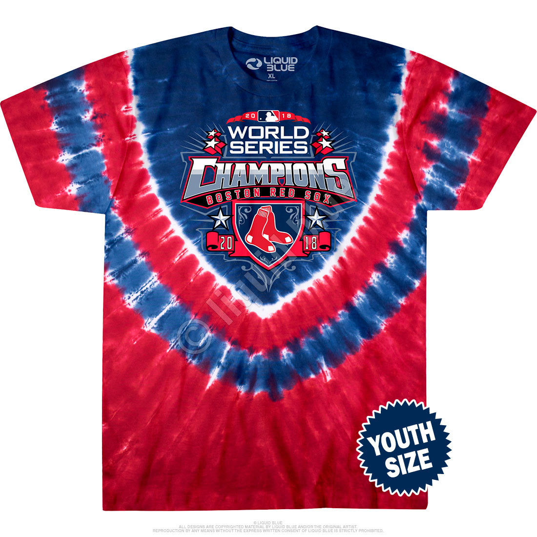 Boston Red Sox World Series Champions Youth Tie-Dye T-Shirt Clearance 50% OFF