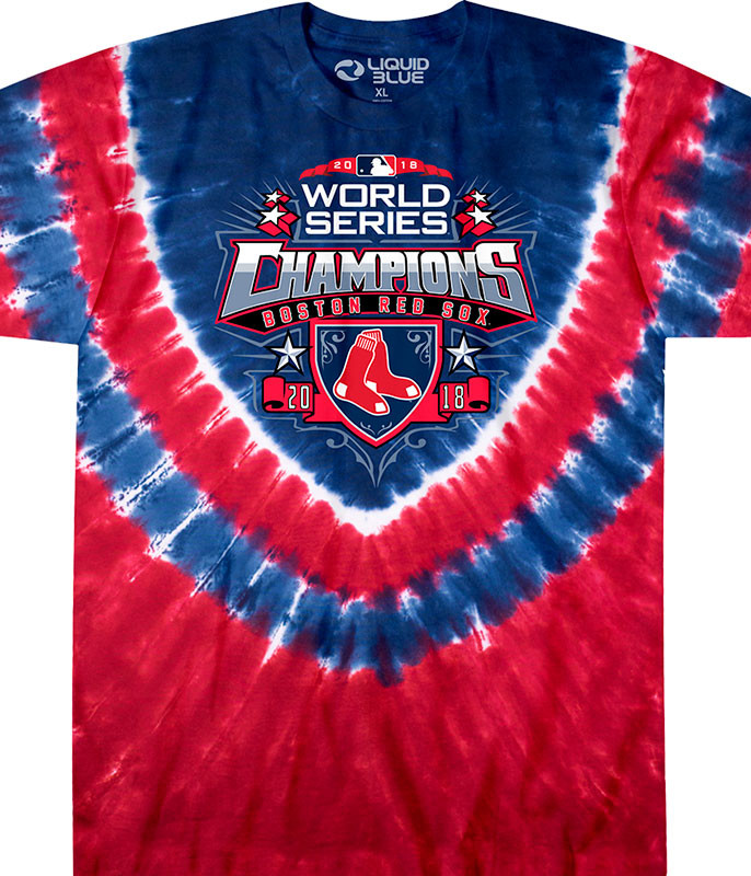Boston Red Sox 2018 World Series Champions V Tie-Dye T-Shirt