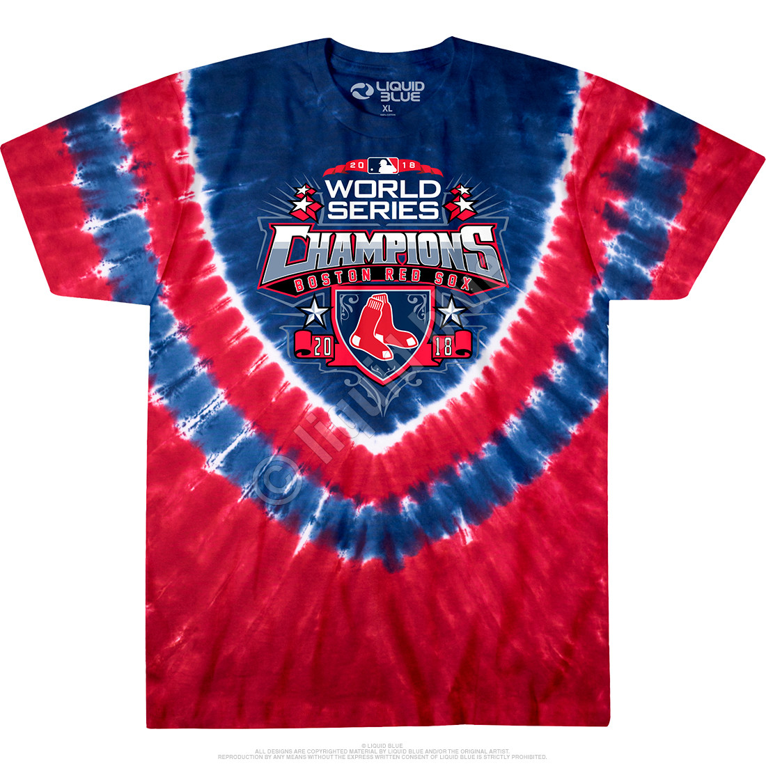 sale retailer 0021b 0185d Boston Red Sox World Series Champions Shield Tie-Dye T-Shirt Clearance 50%  OFF