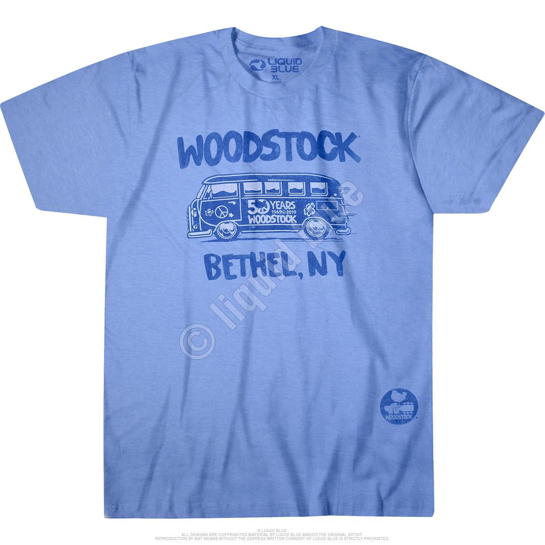 Bethel Bus Blue Poly-Cotton T-Shirt