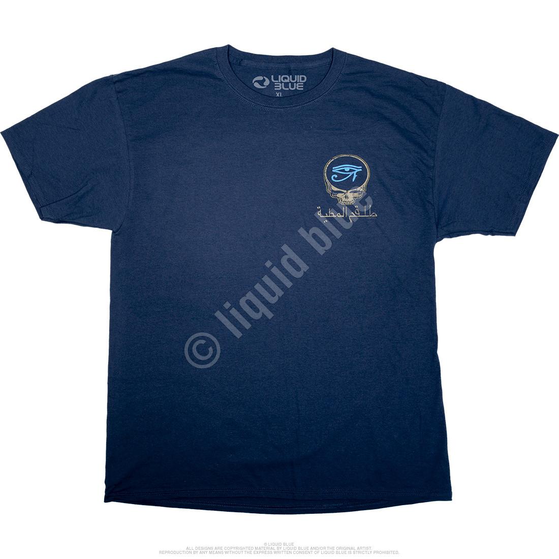 770f695a3 Grateful Dead Egyptian Crew Navy T-Shirt Tee Liquid Blue