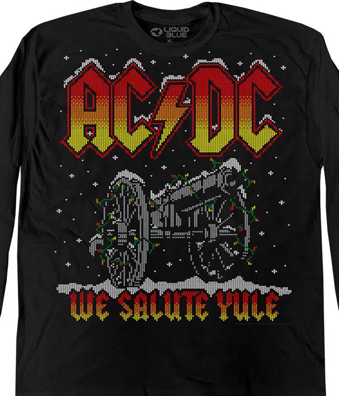 We Salute Yule Xmas Sweater Black Long Sleeve T-Shirt