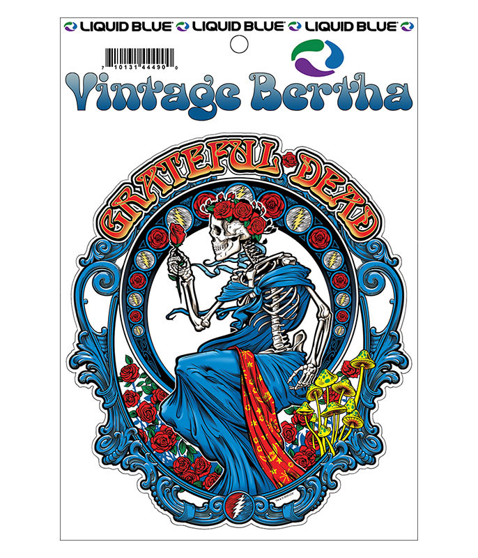 Grateful Dead Vintage Bertha Sticker Liquid Blue
