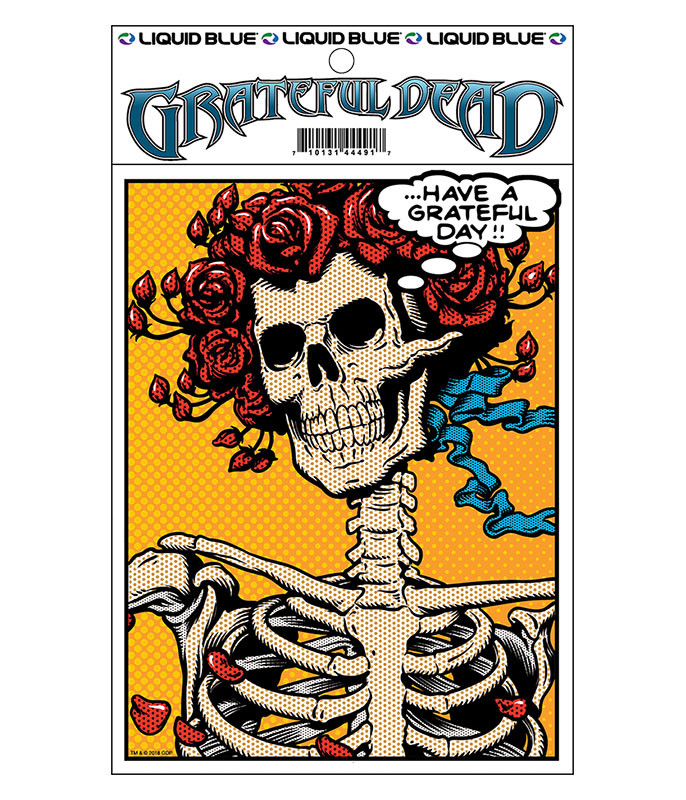 Grateful Dead Pop Art Bertha Sticker Liquid Blue