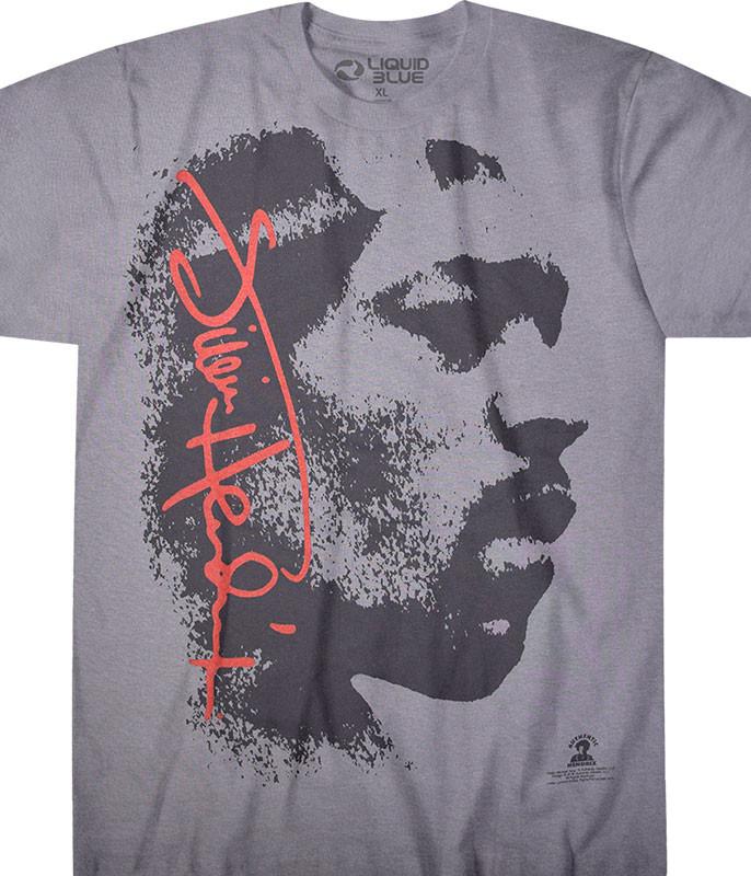 Jimi Hendrix Hey Joe Grey T-Shirt Tee Liquid Blue
