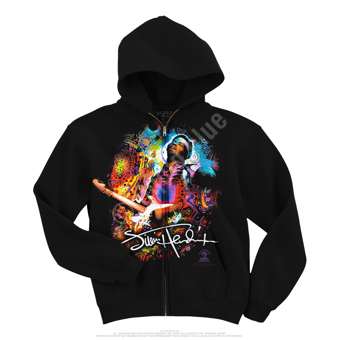 Hendrix Angel Zipper Hoodie Black