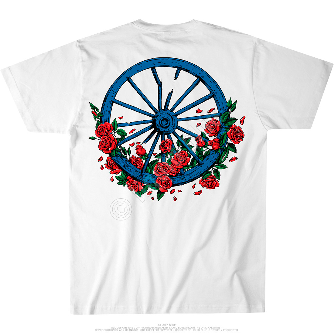 Bertha Wheel & Roses White Athletic T-Shirt