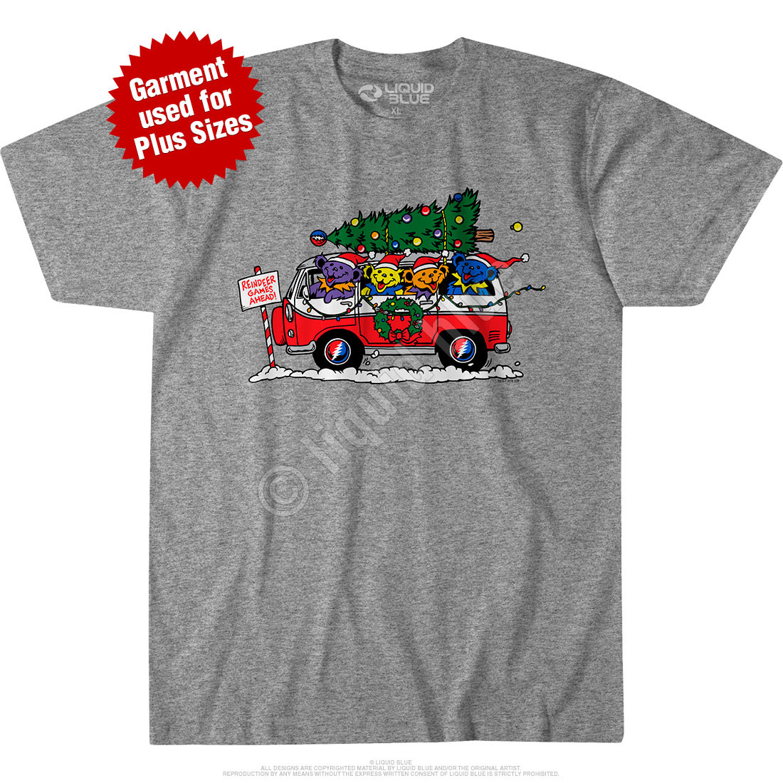Steal Your Christmas Tree Green Athletic T-Shirt