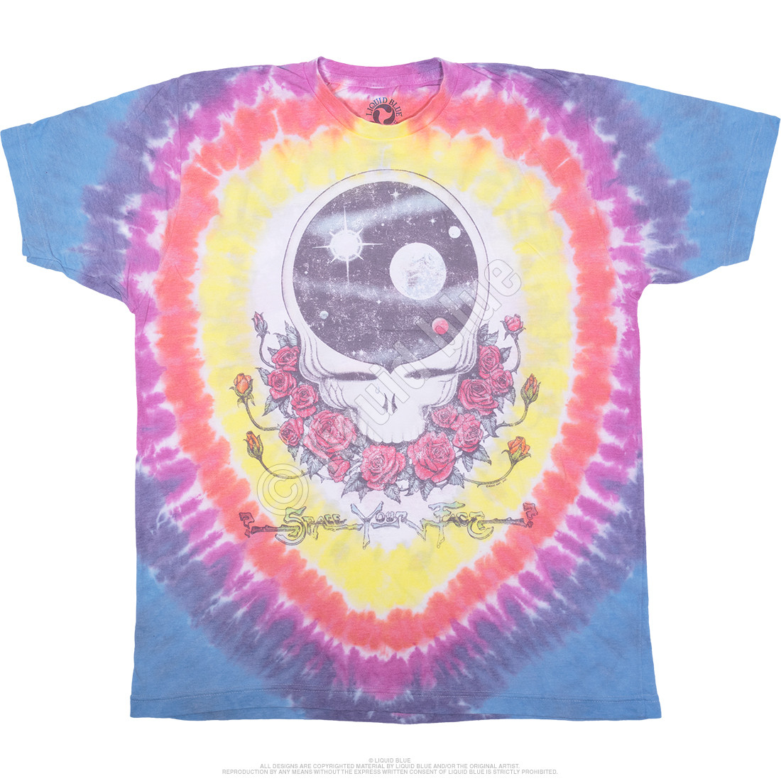 Vintage Space Your Face Poly-Cotton Tie-Dye T-Shirt
