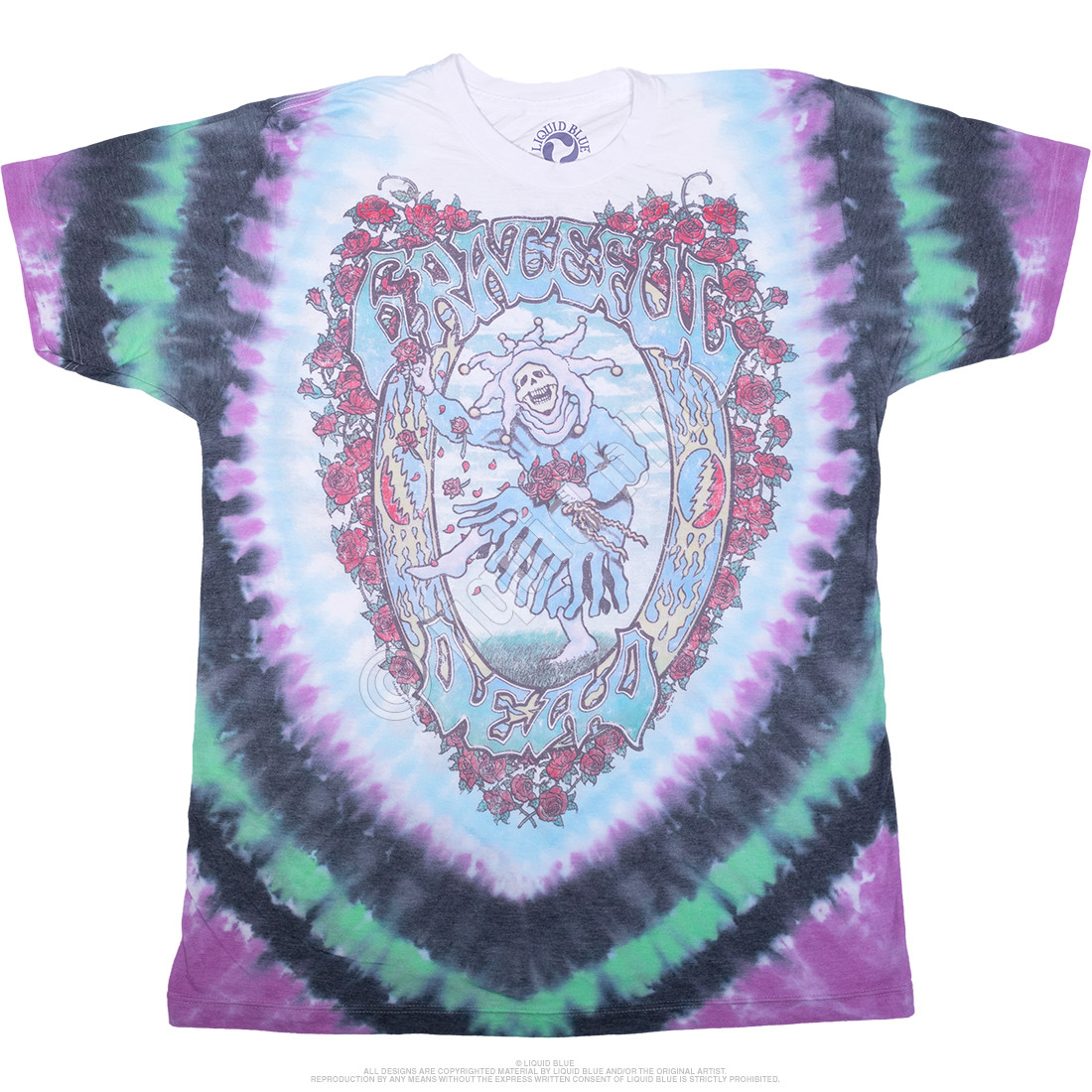Vintage Seasons Of The Dead Poly-Cotton Tie-Dye T-Shirt