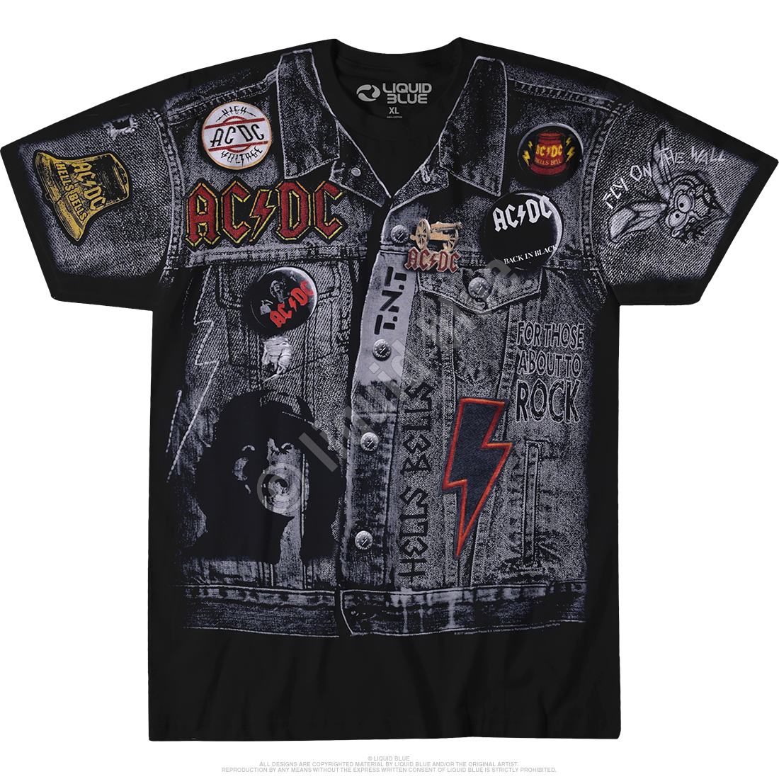 AC/DC Jacket Black T-Shirt
