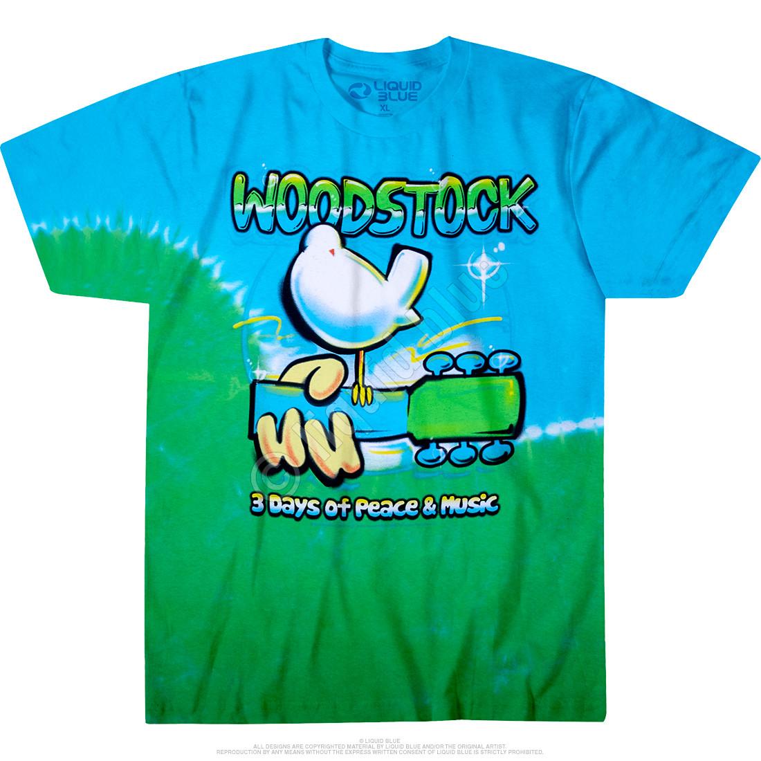 Woodstock Graffiti Tie-Dye T-Shirt