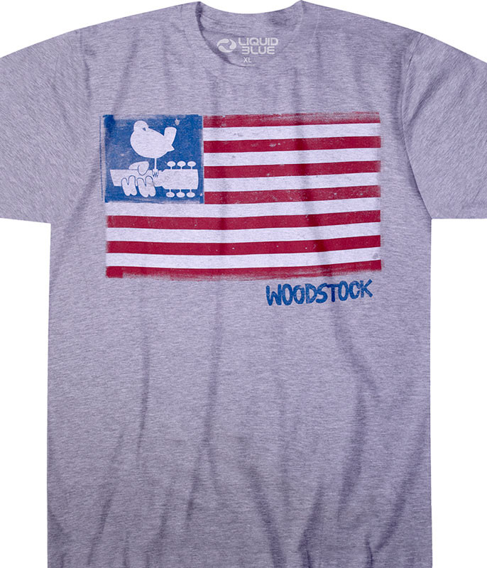 Woodstock Classic Woodstock Heather Poly-Cotton T-Shirt Tee Liquid Blue