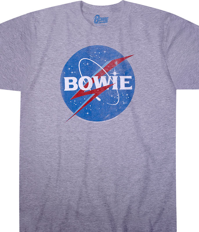 Bowies in Space Heather Poly-Cotton T-Shirt