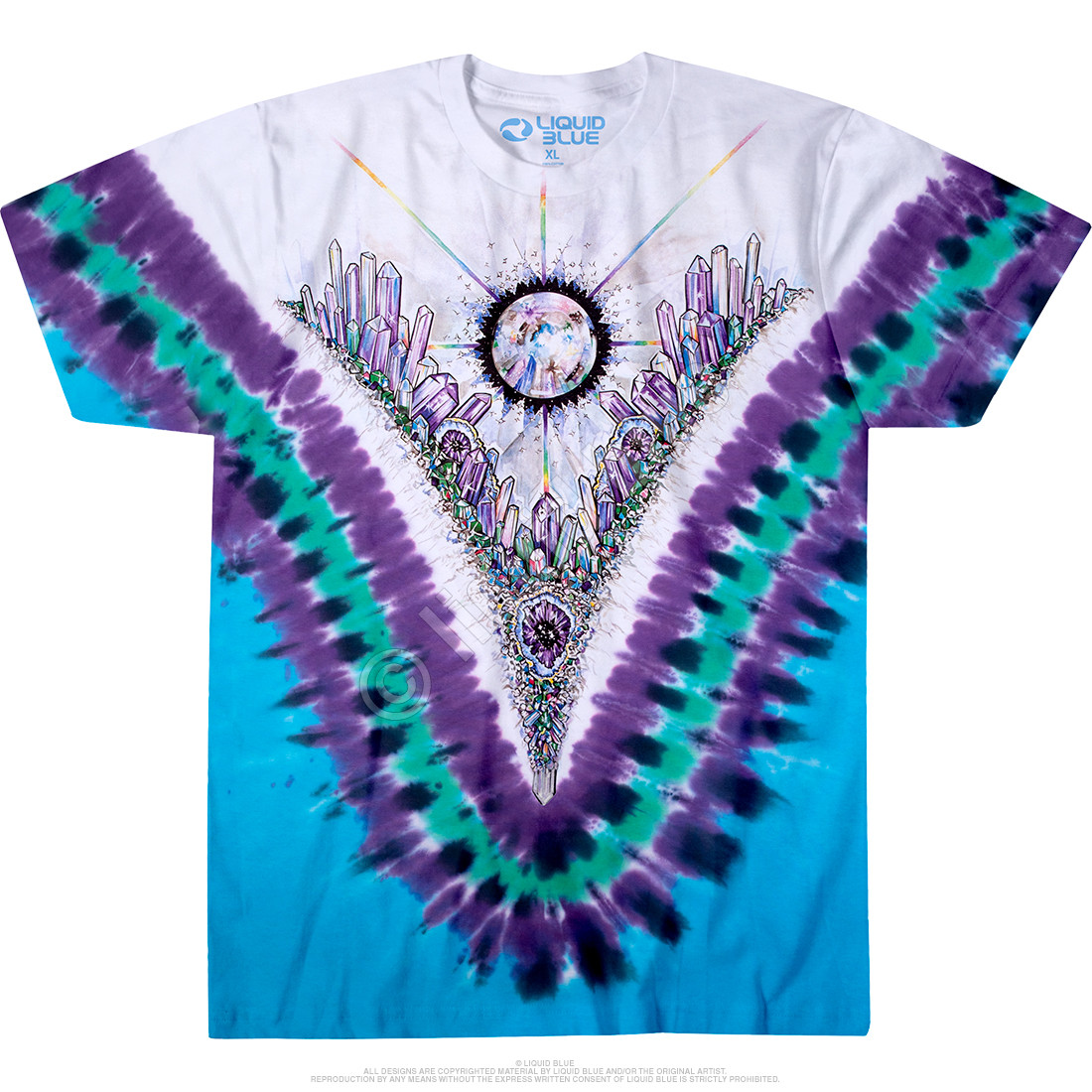 Crystal Top Tie-Dye T-Shirt