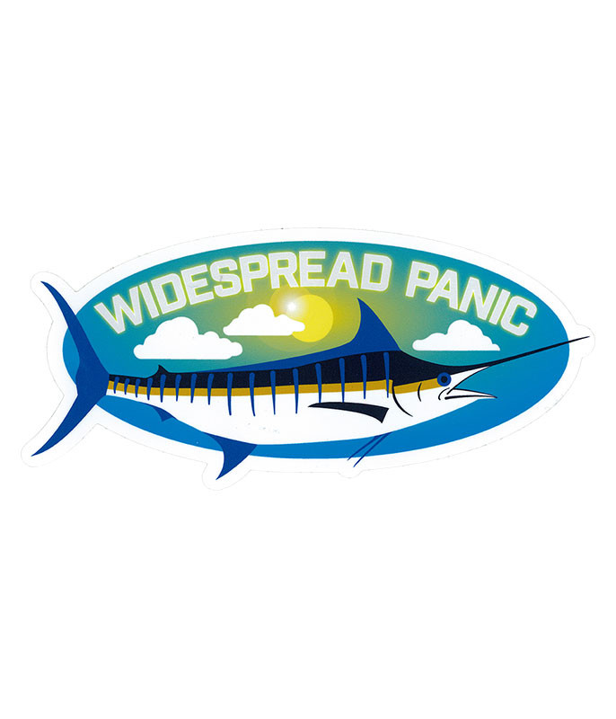 Widespread Panic Blue Marlin Sticker