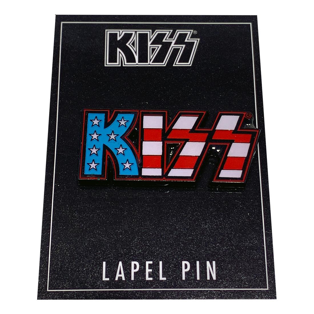 KISS American Flag Lapel Pin