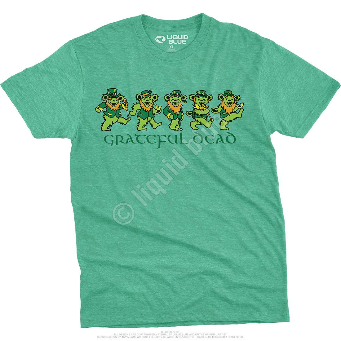 Irish Bears Poly Cotton Heather Green T-Shirt