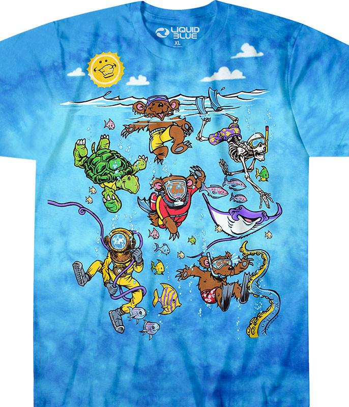 Sea Swimming Tie-Dye T-Shirt