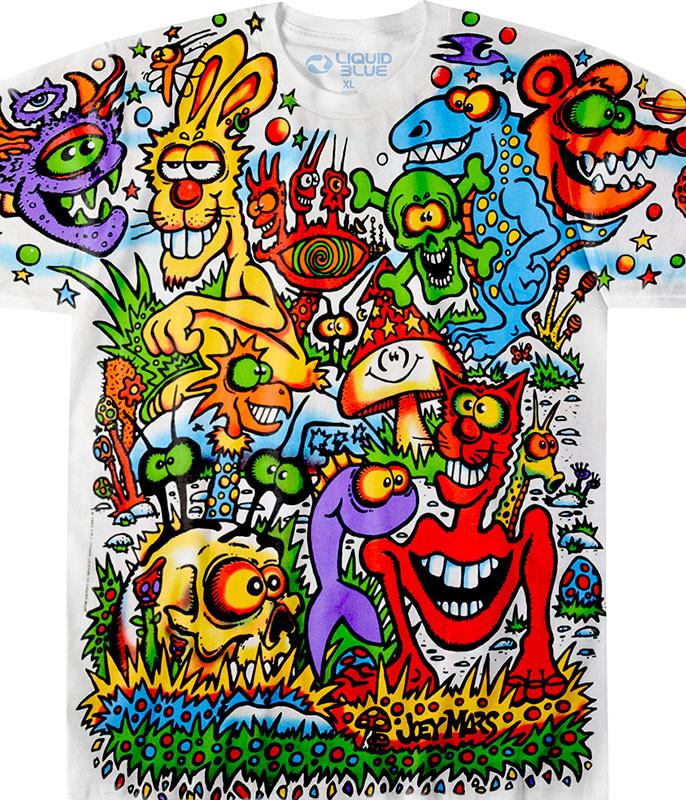 Zidzoii Joey Mars White T-Shirt