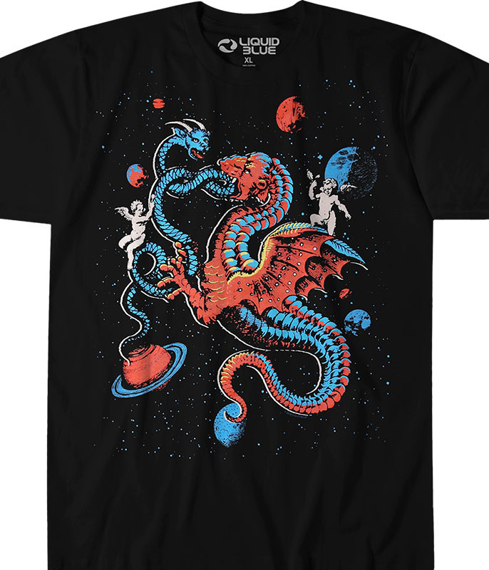 Celestial Dragons Black T-Shirt
