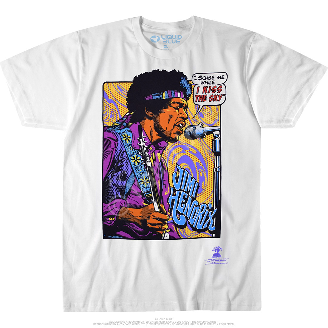 Hendrix Pop Art White T-Shirt