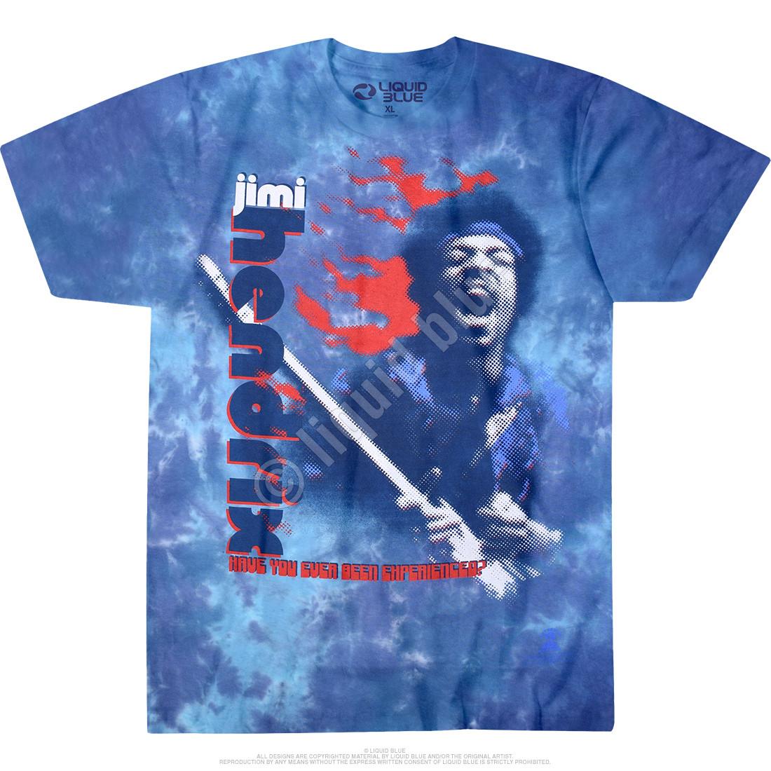L 2XL Tie Dye T-Shirt XL Jimi Hendrix Purple Haze M