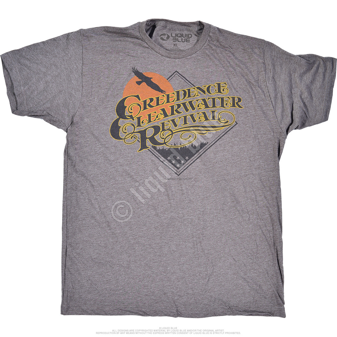 Bayou Country Grey Poly Cotton T-Shirt