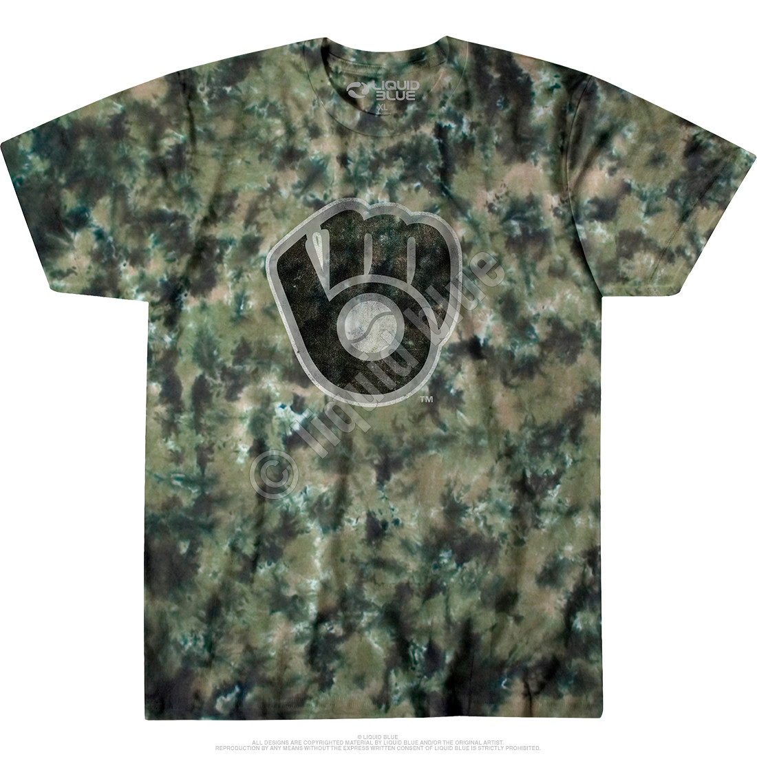 Milwaukee Brewers Camo Tie-Dye T-Shirt