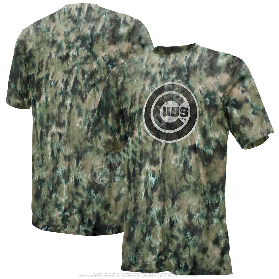Chicago Cubs Camo Tie-Dye T-Shirt