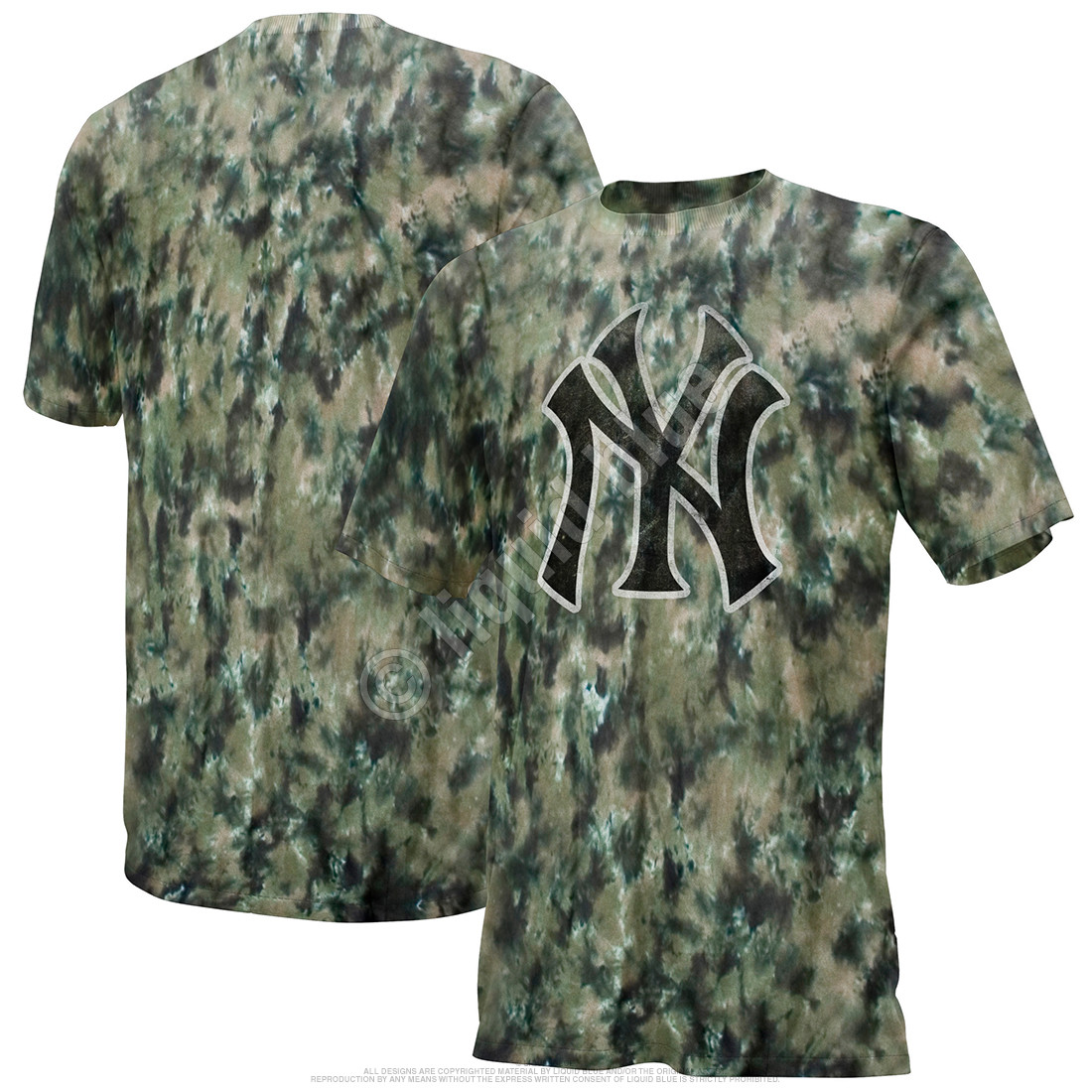 New York Yankees Camo Tie-Dye T-Shirt