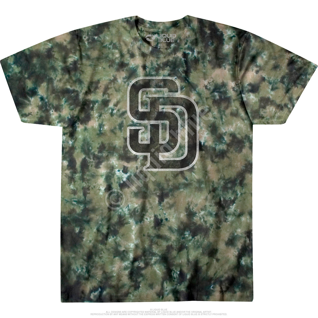 best sneakers 2eb36 8854f San Dyego Padres Camo Tie-Dye T-Shirt
