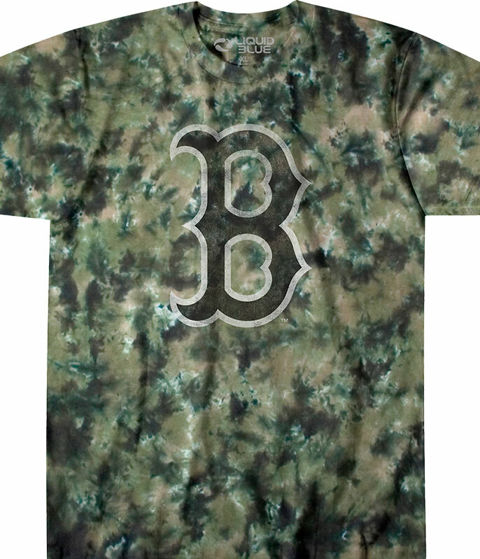 BOSTON RED SOX CAMO TIE-DYE T-SHIRT