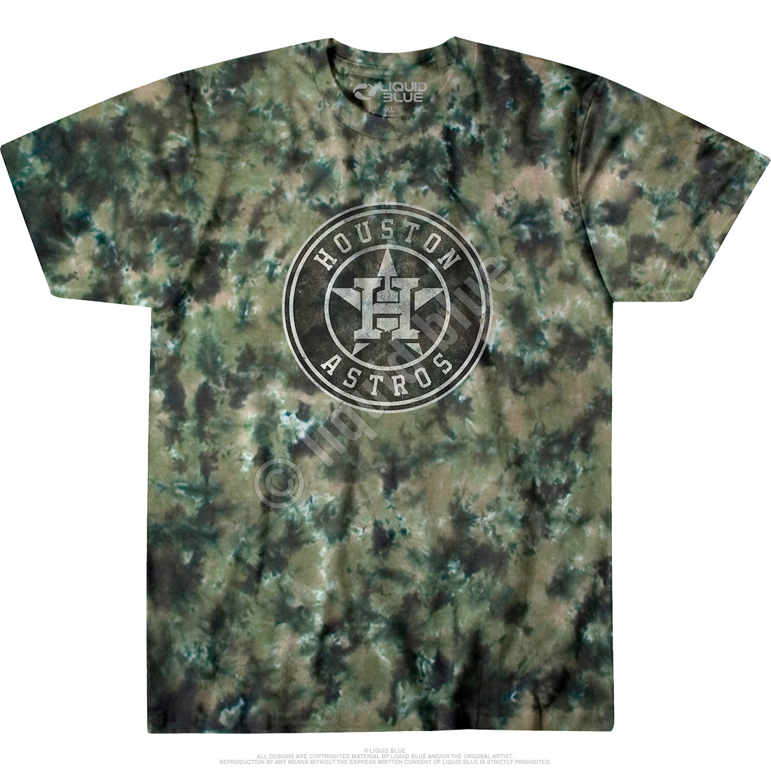 Houston Astros Camo Tie-Dye T-Shirt