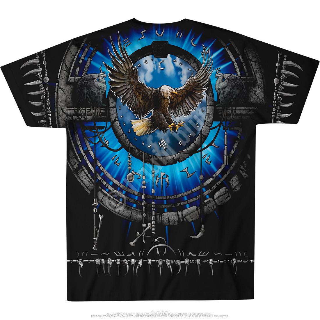 Tribal Eagle Black T-Shirt