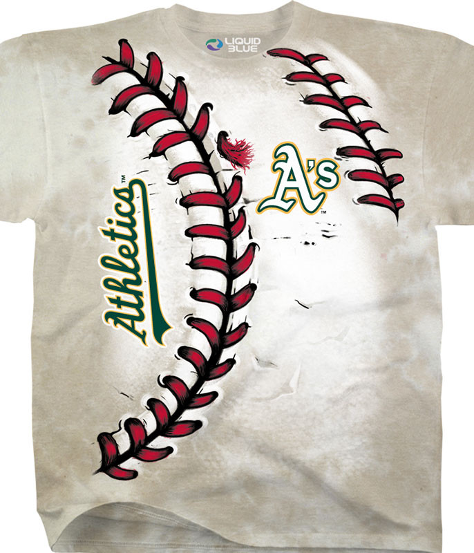 MLB Oakland Athletics Youth Hardball Tie-Dye T-Shirt Tee Liquid Blue