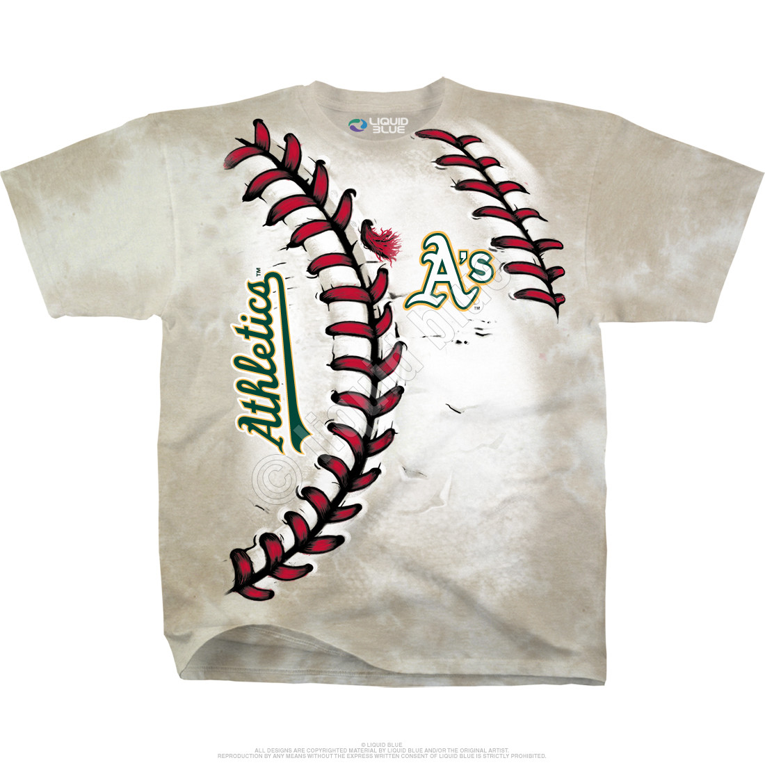 Oakland Athletics Youth Hardball Tie-Dye T-Shirt