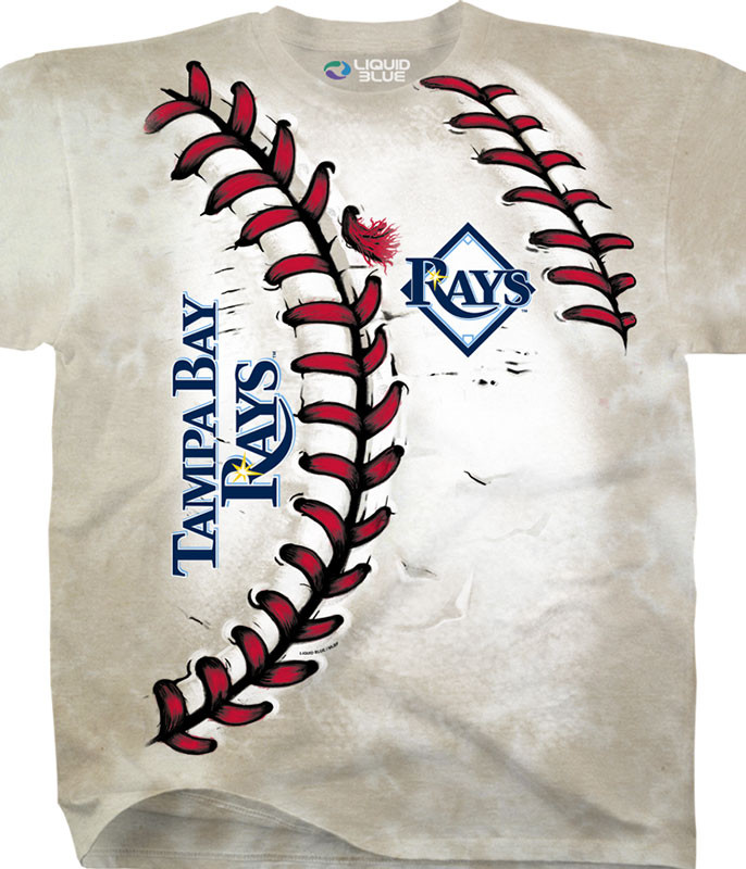 MLB Tampa Bay Rays Youth Hardball Tie-Dye T-Shirt Tee Liquid Blue
