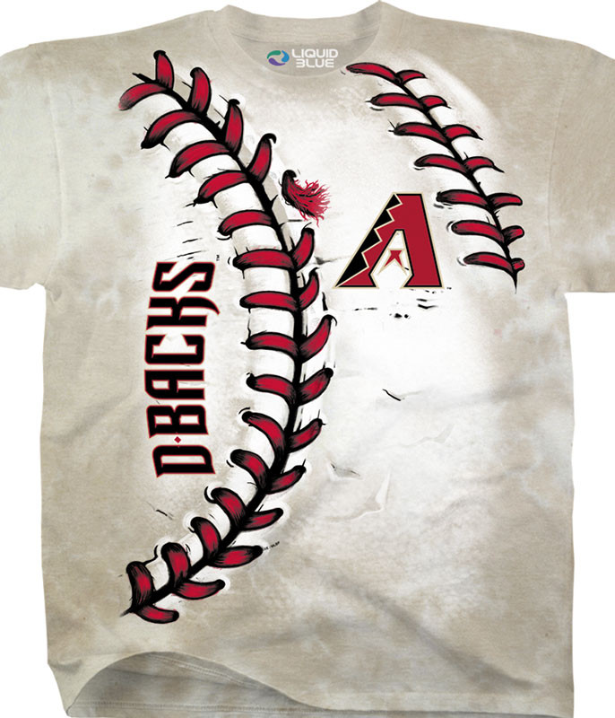 MLB Arizona Diamondbacks Youth Hardball Tie-Dye T-Shirt Tee Liquid Blue