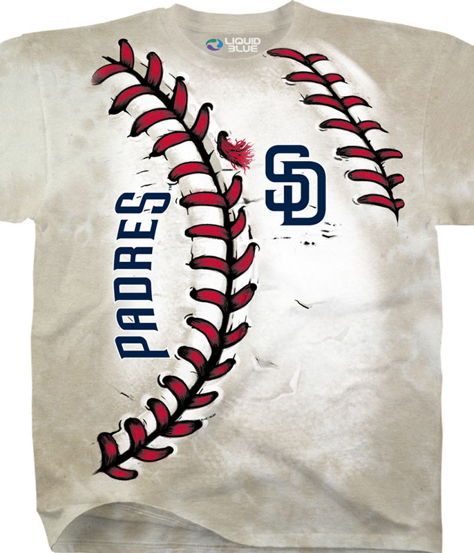 MLB San Diego Padres Youth Hardball Tie-Dye T-Shirt Tee Liquid Blue