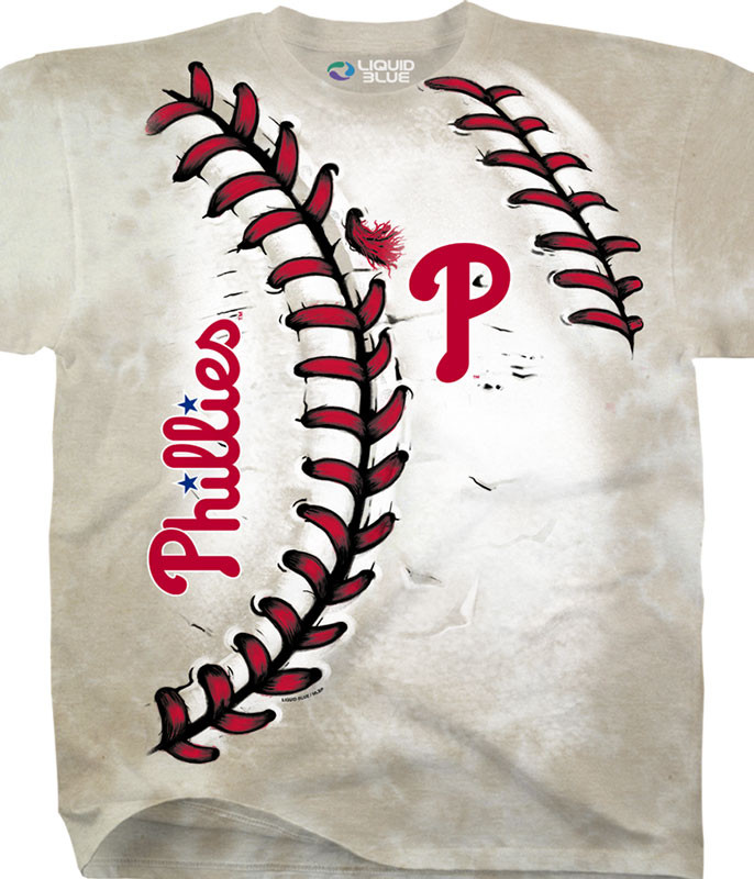 MLB Philadelphia Phillies Youth Hardball Tie-Dye T-Shirt Tee Liquid Blue