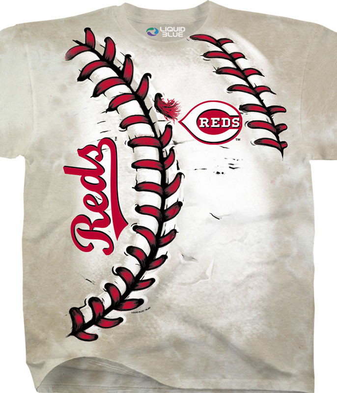 MLB Cincinnati Reds Youth Hardball Tie-Dye T-Shirt Tee Liquid Blue