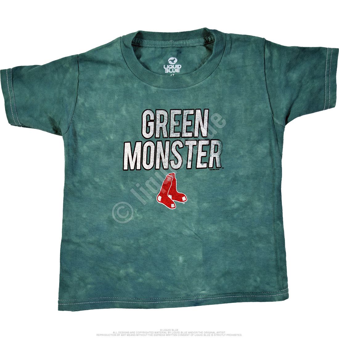 Boston Red Sox Toddler Green Monster Tie-Dye T-Shirt